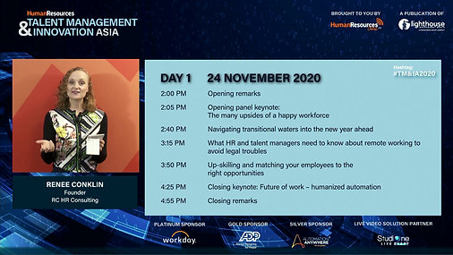 Talent Management & Innovation Asia 2020 | Virtual Conference
