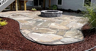 Beautiful Flagstone Patio and Fire Pit