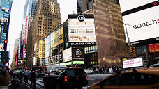mDesign on TRIO Screens in Times Square NYC