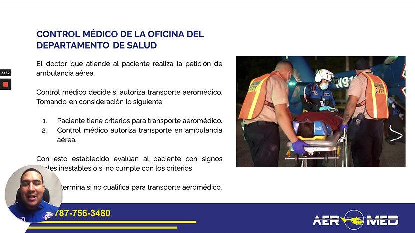 Quick Coach - Protocolo traslado aeromédico en casos interhospitalarios