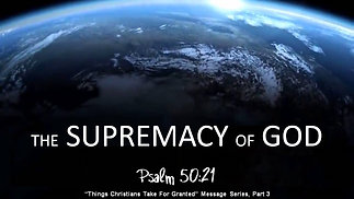 The Supremacy of God