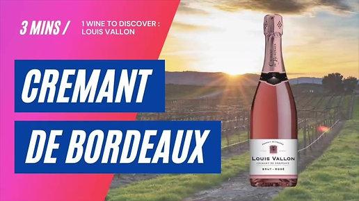 Louis Vallon Cremant de Bordeaux Rose
