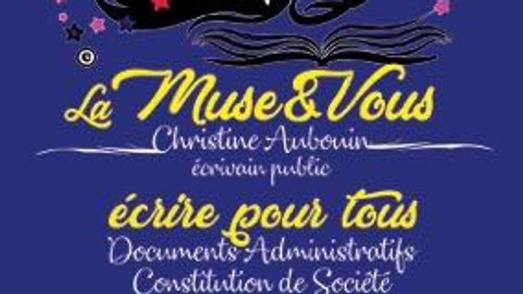 Les vidéos de la Muse & Vous - Ecrivain Public