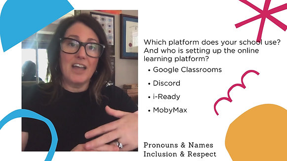 Online learning & pronouns