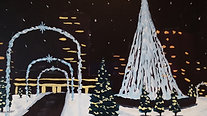 Downtown Snow - Beginner's Acrylic Painting Class
