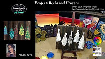 Herbs and Flowers - Beginner's Acrylic Painting Class