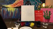 Night Waterfall - Beginner's Acrylic Painting Class