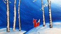 Fox's Snow Day - Beginner's Acrylic Painting Class