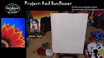 Red Sunflower - Beginner's Acrylic Painting Class