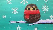 Cozy Owl - Beginner's Acrylic Painting Class