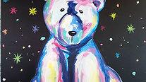 Colorful Polar Bear - Beginner's Acrylic Painting Class