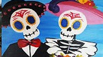 Skeleton Couple - Beginner's Acrylic Painting Class