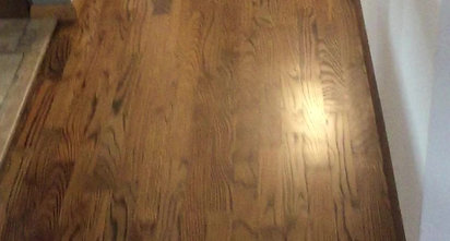 Refinish with Medium Brown Stain Color.