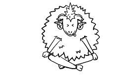 'Punk sheep' illustration for German yarn company