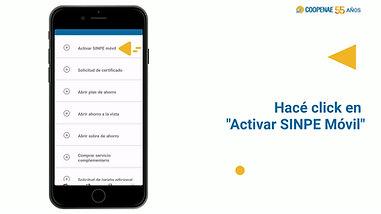 Activá tu Sinpe Movil desde tu app