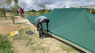 tent shade installation