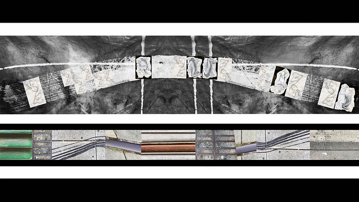Stoff Stuk Installation Graphic Score Concept (2020)