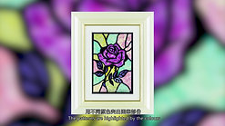 Contour Art with Japanese Pressed Flower