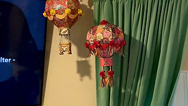 Gypsy Gypsy & Golden Peony Paper Hot Air Balloons