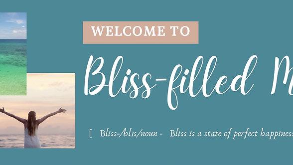 Bliss-Filled Mind Website Banner