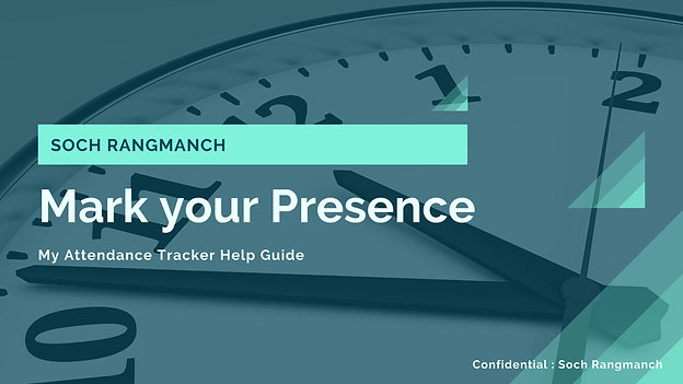 My Attendance Tracker Help Guide