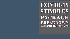 COVID-19 STIMULUS BREAKDOWN