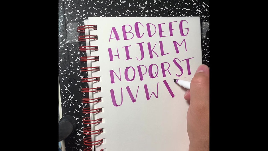Intermediate Hand Lettering and Calligraphy: Class 1 of 3