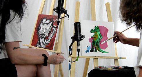 Deadgirl's Paint Club Timelapse w Ian