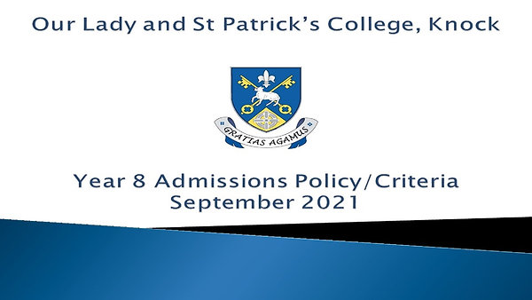 Year 8 Admissions Policy