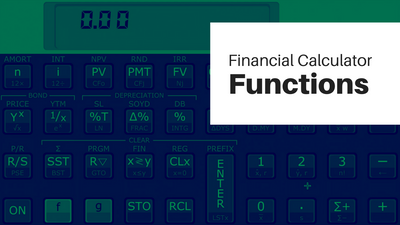Tour the Financial Calculator Functions