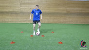 T64 - Dribble Around Two Cones - Horizontal