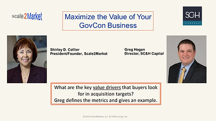 Maximize the Value of Your Govcon Business