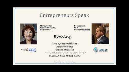 Entrepreneurs Speak: Doug Jeruzal, CEO Secure Innovations