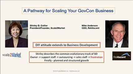 Pathway for Scaling Your Govcon Business