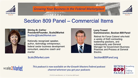 Commercial Items: Section 809 Panel Recommendations with Commissioner Larry TrowelmsCommercial Items