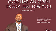 2.7.2021 - God Has An Open Door Just For You