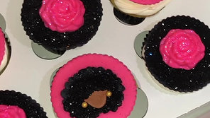 Afro Girl Cupcakes
