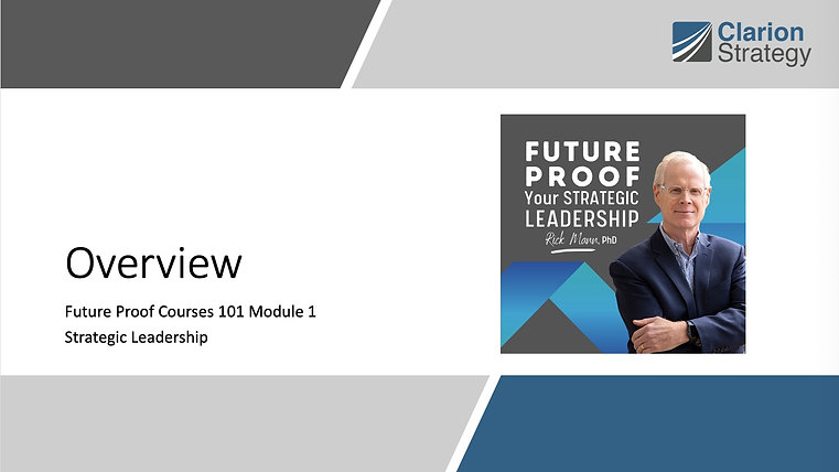 Strategic Leadership 101 Videos