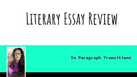 Literary Essay Writing Mini Lesson