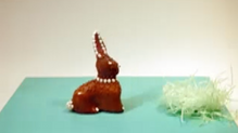 Chocolate animation: Santa Claus meets Easter bunny