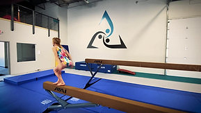 Tri gymnasts working on new skills