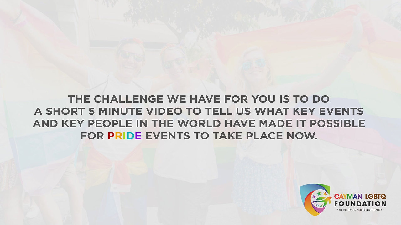 LGBT HISTORY MONTH APPLICATION
