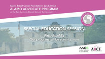 ABCF-AACR Special Education Session (2019)
