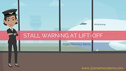 Stall warning at liftoff