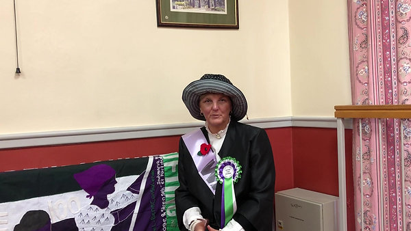 Loscoe and Heanor Town Council and WI member Ann Jones Interview at Heanor and Loscoe Suffrage event 11/03/18