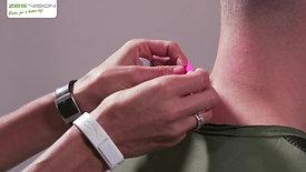 ZES Body Chip - Anwendung Nacken