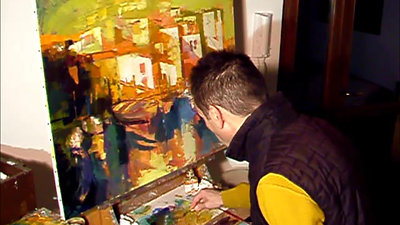 Painting in progress 2014 by Alex Bertaina