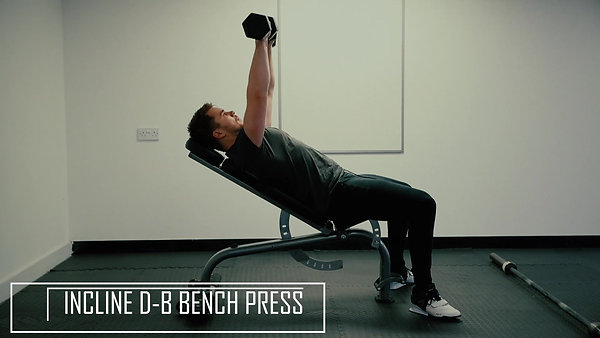 Incline D-B Bench Press