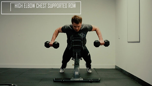 High Elbow Chest Supported Row
