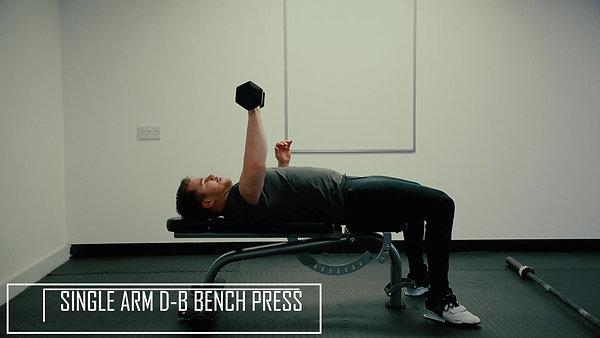 Single Arm D-B Bench Press